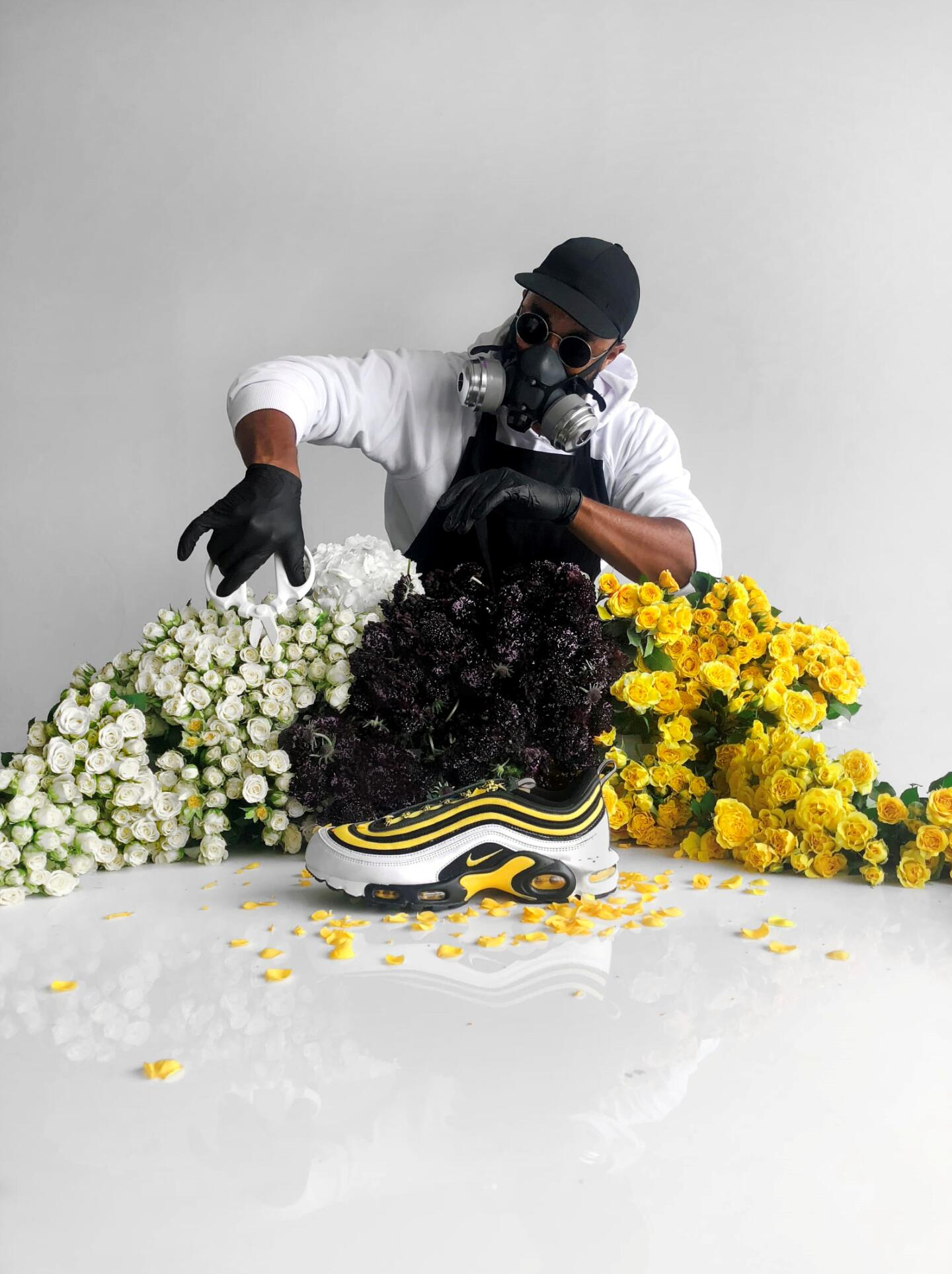 Meet the Artist Turning Flowers Into Hyped Sneakers